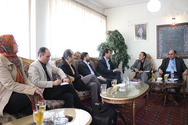 دیدار با سفیر و رایزین فرهنگی سفارت جمهوری اسلامی افغانستان