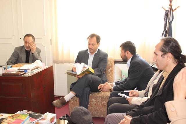 دیدار با رایزن فرهنگی سفارت جمهوری اسلامی افغانستان