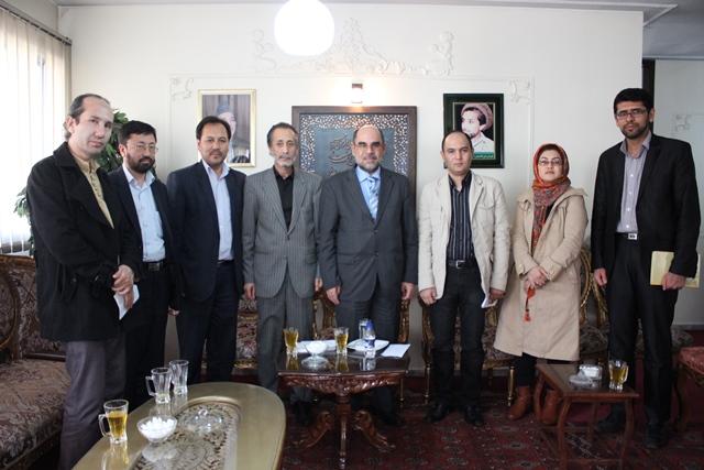 دیدار با سفیر و رایزن فرهنگی سفارت جمهوری اسلامی افغانستان
